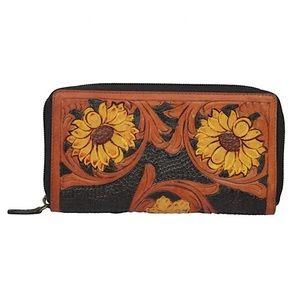 Myra Bag™️ Floral Tooled Leather Wallet